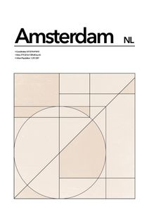 Amsterdam Abstract  Poster Orte