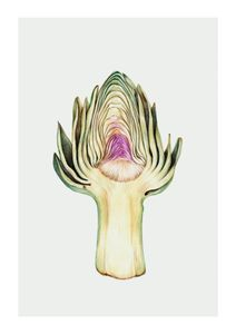 Artichoke In Watercolor  Affiches Affiches cuisine