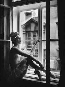 Ballerina In Window  Prints Bestsellers