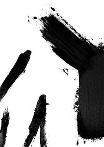 Black Acryllic Strokes  Poster Abstraktes Motiv