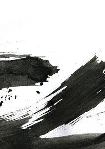 Black Ink Strokes  Poster Abstraktes Motiv