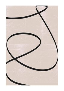 Black Line Abstract  Posters Premium Selection