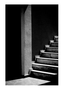 Black Marble Stairs  Affiches Architecture