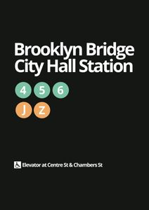 Brooklyn Bridge City Hall  Poster Orte