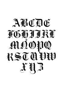 Calligraphy Alphabet  Affiches Affiches de citations