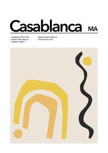 Casablanca Abstract  Affiches Villes et Endroits