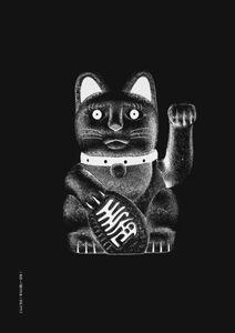 Maneki-neko  Poster Grafik