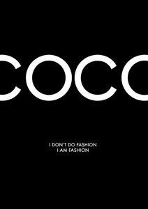 Coco Chanel Dark  Poster Fashion
