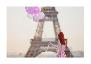 Girl With Baloons  Prints Studio France