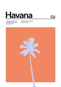 Havana Abstract  Posters Platser