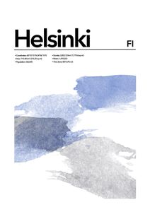 Helsinki Abstract  Prints Places & Cities