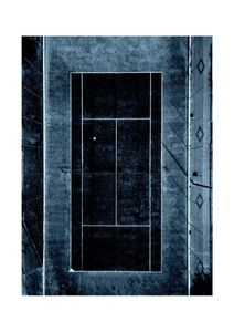 Inverted Tennis Court  Poster Grafik