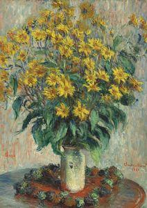 Jerusalem Artichoke Flowers By Monet  Prints New In