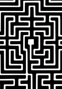 Labyrinth  Posters Grafiska motiv