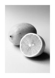 Lemon Study White 1  Affiches Photographies