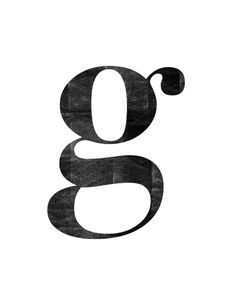Letter G  Prints Typography & Quotes
