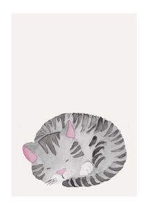 Lil Sleepy Cat  Posters Posters för barn
