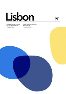 Lisbon Abstract  Prints Places & Cities