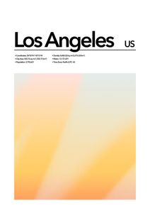 Los Angeles Abstract  Affiches Villes et Endroits