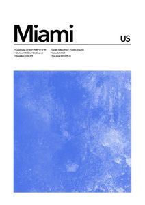 Miami Abstract  Posters Platser