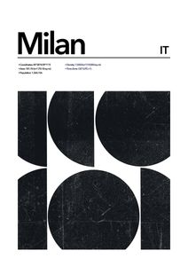 Milan Abstract  Prints Places & Cities
