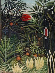 Monkeys And Parrot By Rousseau  Posters Nyheter