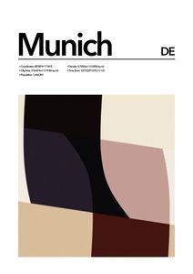 Munich Abstract  Affiches Villes et Endroits