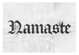 Namaste  Posters Texttavlor