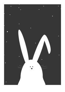 Night Rabbit  Affiches Posters pour enfants