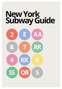 NY Subway Guide  Prints Places & Cities