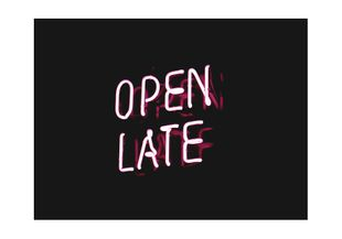 Open Late  Posters Fotokunst