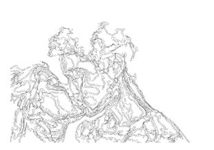 Outline Of A Kiss  Prints Illustrations