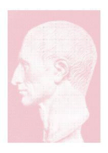 Pink Ceasar  Affiches Halftone