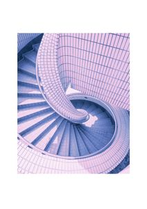 Pink Stairs  Prints Architecture