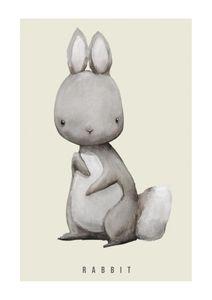 Rabbit Watercolor  Prints Kids Prints