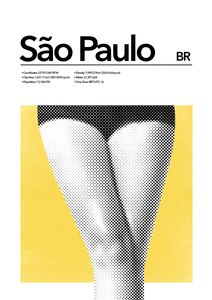 Sao Paulo Abstract  Affiches Villes et Endroits