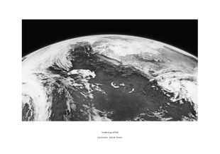 Satellite Image Of Earth  Poster Schwarzweiß-Poster