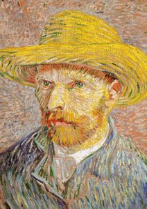 Self Portrait With A Straw Hat By Van Gogh  Prints New In