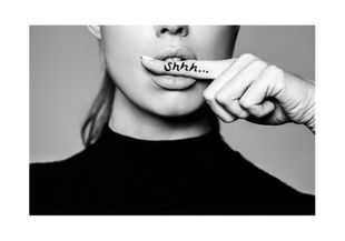 Shhh  Poster Fotokunst