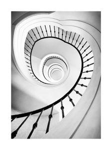 Spiral Staircase  Prints Black & White Photography