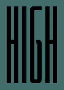 Stay High  Poster Typografie und Zitate