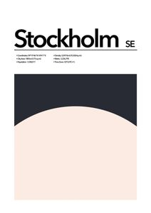 Stockholm Abstract  Prints Places & Cities