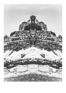Symmetrical Mountain  Affiches Noir et blanc