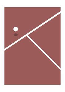 Tennis  Posters Grafiska motiv