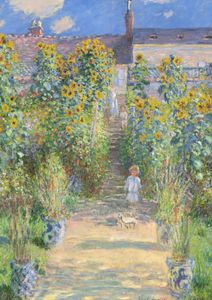 The Artist's Garden At Vétheuil By Monet  Prints New In