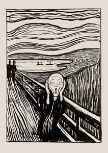 The Scream Illustration By Munch  Posters New Arrivals
