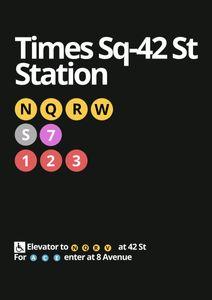Times Square 42  Prints Places & Cities