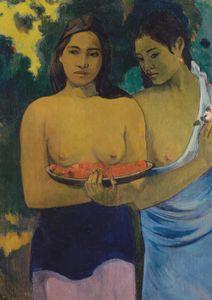 Two Tahitian Women By Gauguin  Prints New In