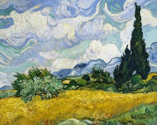 Wheat Field With Cypresses By Van Gogh  Posters New Arrivals