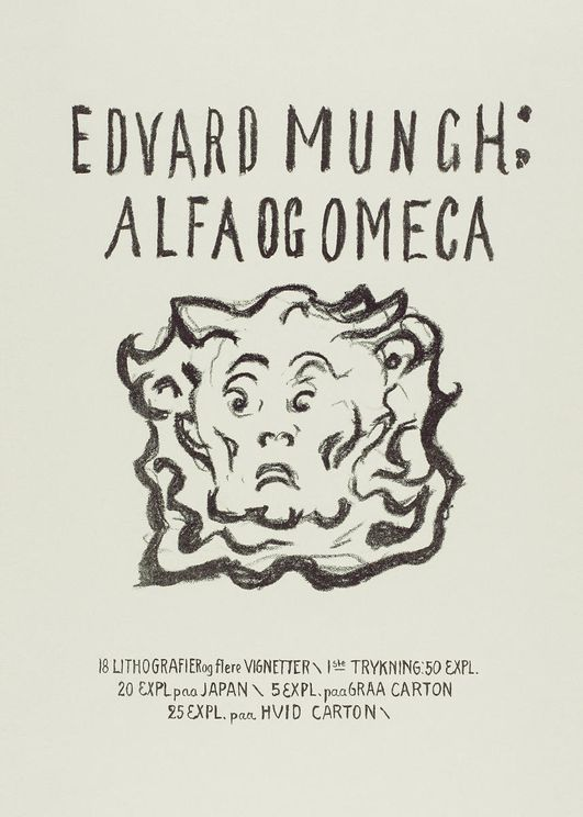 Alpha And Omega Title Page By Munch